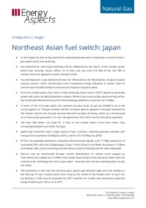 Northeast Asian fuel switch: Japan cover