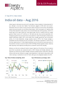 India oil data – Aug 2016 cover