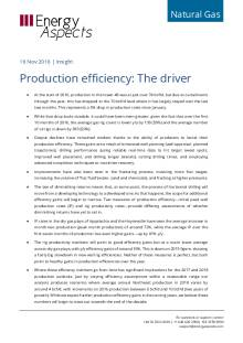 2016-11 Natural Gas - North America Insight - Production efficiency: The driver cover
