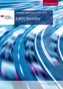 2016-11 Oil - Light ends Outlook - Latin lessons cover