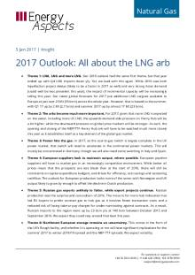 2017-01 Natural Gas - Europe Insight - 2017 Outlook: All about the LNG arb cover