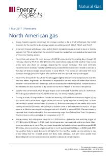 2017-03-01 Natural Gas - North America Panorama - North American gas cover