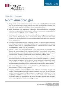 2017-03-14 Natural Gas - North America Panorama - North American gas cover