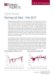 2017-03 Oil - Data review - Norway oil data – Feb 2017 cover