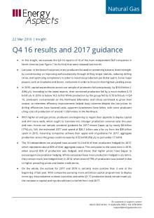 2017-03 Natural Gas - North America Insight - Q4 16 results and 2017 guidance cover