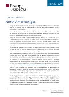 2017-03-21 Natural Gas - North America Panorama - North American gas cover