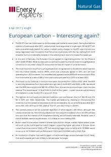 2017-04 Natural Gas - Europe Insight - European carbon – Interesting again? cover
