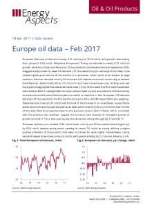 2017-04 Oil - Data review - Europe oil data – Feb 17 cover