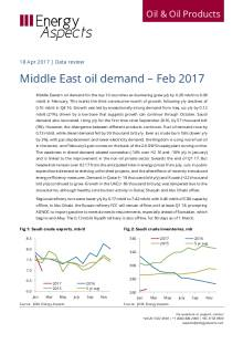 2017-04 Oil - Data review - Middle East oil demand – Feb 2017 cover