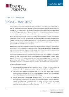 2017-04 Natural Gas - Global LNG Data review - China – Mar 2017 cover