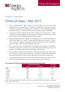 China oil data – Mar 2017 cover image
