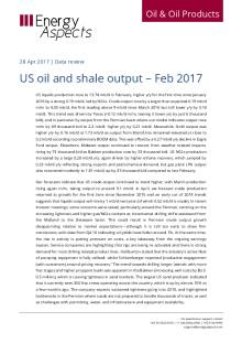 2017-04 Oil - Data review - US oil and shale output – Feb 2017 cover
