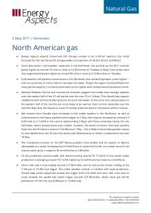 2017-05-03 Natural Gas - North America Panorama - North American gas cover
