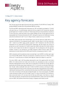 2017-05 Oil - Data review - Key agency forecasts cover