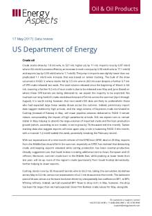 2017-05 Oil - Data review - US Department of Energy cover