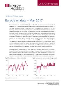 2017-05 Oil - Data review - Europe oil data – Mar 2017 cover