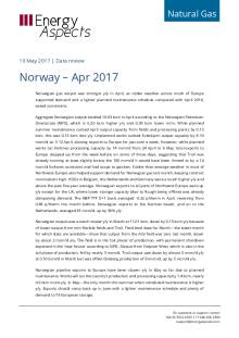 2017-05 Natural Gas - Europe Data review - Norway – Apr 2017 cover