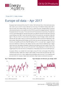 Europe oil data – Apr 2017 cover image