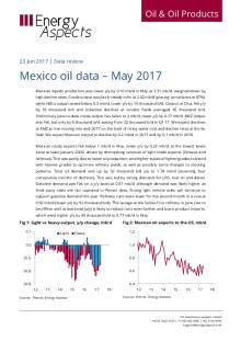 2017-06 Oil - Data review - Mexico oil data – May 2017 cover
