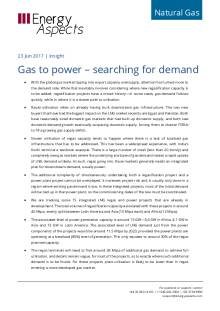 2017-06-23 Natural Global LNG - Gas to power: searching for demand cover
