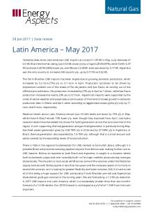 2017-06-28 Natural Gas - Global LNG - Latin America – May 2017 cover