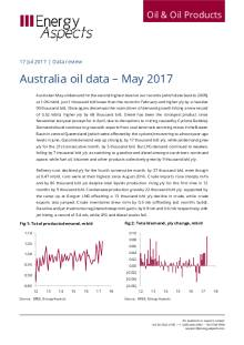 2017-07 Oil - Data review - Australia oil data – Apr 2017 cover
