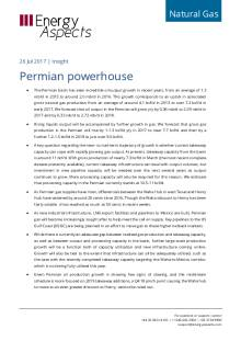 2017-07-26 Natural Gas - North America - Permian powerhouse cover
