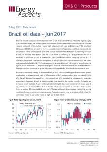 2017-08 Oil - Data review - Brazil oil data – Jun 2017 cover