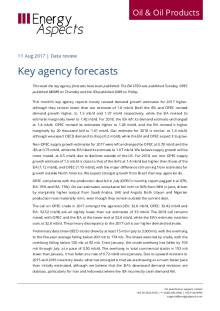 2017-08 Oil - Data review - Key agency forecasts cover