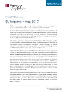 2017-09-11 Natural Gas - Europe - EU imports – Aug 2017 cover