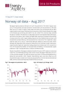 2017-09 Oil - Data review - Norway oil data – Aug 2017 cover