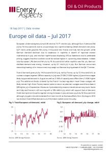 2017-09 Oil - Data review - Europe oil data – Jul 2017 cover