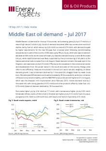 2017-09 Oil - Data review - Middle East oil demand – Jul 2017 cover