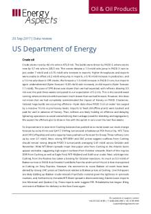 2017-09 Oil - Data review - US Department of Energy cover