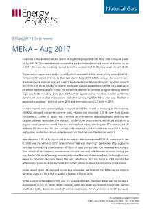 2017-09-27 Natural Gas - Global LNG - MENA – Aug 2017 cover