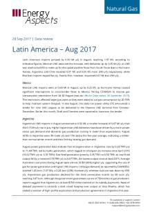 2017-09-28 Natural Gas - Global LNG - Latin America – Aug 2017 cover