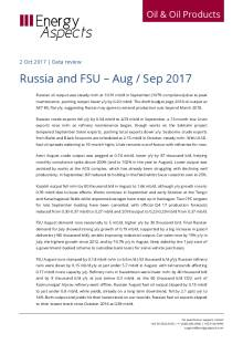 Russia and FSU – Aug / Sep 2017 cover image