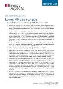 2017-10-11 Natural Gas - North America - Lower 48 gas storage cover