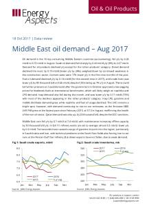 2017-10 Oil - Data review - Middle East oil demand – Aug 2017 cover