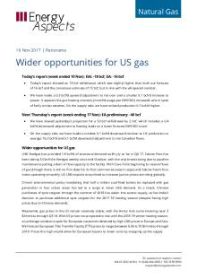 Wider opportunities for US gas cover image