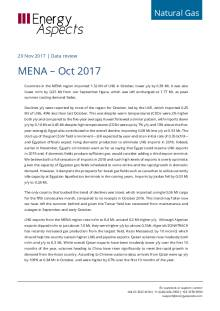 2017-11-29 Natural Gas - Global LNG - MENA – Oct 2017 cover