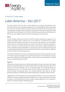 2017-11-30 Natural Gas - Global LNG - Latin America – Oct 2017 cover
