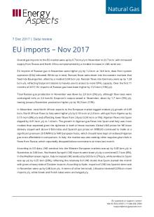 2017-12-07 Natural Gas - Europe - EU imports – Nov 2017 cover