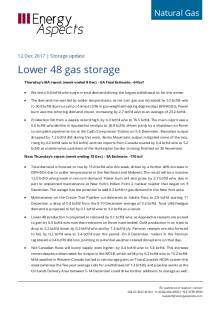 2017-12-12 Natural Gas - North America - Lower 48 gas storage cover
