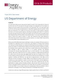 2018-01 Oil - Data review - US Department of Energy cover