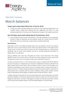 2018-03-08 Natural Gas - North America - March balances cover