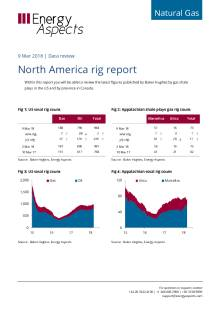2018-03-09 Natural Gas - North America - North America rig report cover