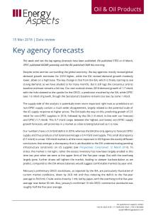 2018-03 Oil - Data review - Key agency forecasts cover