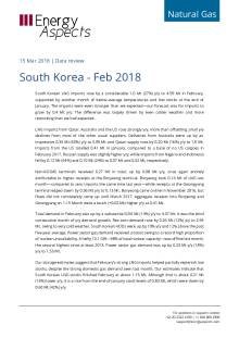 2018-03-15 Natural Gas - Global LNG - South Korea - Feb 2018 cover