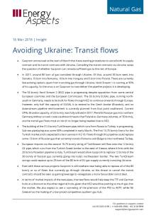 2018-03-16 Natural Gas - Europe - Avoiding Ukraine: Transit flows cover
